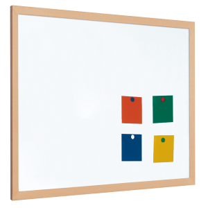 Magnetic coated steel whiteboard with 40mm light wood frame (5yr surface guarantee)[1]