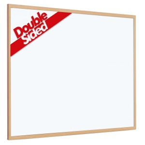 Non-magnetic laminate whiteboard with 25mm light wood frame (2yr surface guarantee)