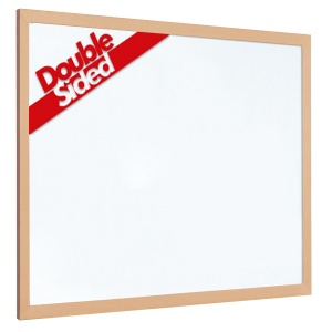 Non-magnetic laminate whiteboard with 40mm light wood frame (2yr surface guarantee)