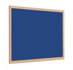 FELT PIN BOARD WITH 40mm LIGHT WOOD FRAME