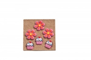 Cupcake and Flower Pushpins