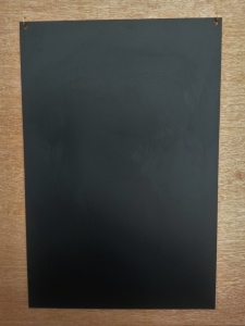 Supreme 3mm chalkboard with brass hanging hooks