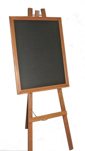 Antique Style Easel suitable for Chalkboards or Notice Boards