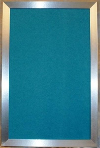 Blue Magnetic Drywipe Board with Chrome Effect Frame