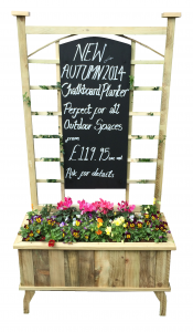Traditional Chalkboard Planter