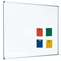Magnetic coated steel single sided whiteboard with aluminium frame (5yr surface guarantee)