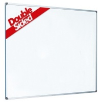 Non-magnetic laminate whiteboard with aluminium frame (2yr surface guarantee)