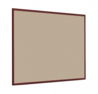 FELT PIN BOARD WITH 25mm DARK WOOD FRAME
