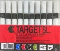 Pack of 10 Black whiteboard pens