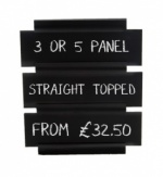 Hymn Style chalkboard with removable panels, straight topped