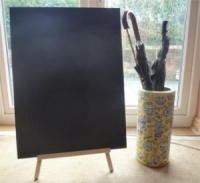 Double Sided Chalkboard with Large Easel