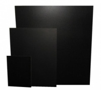 Unframed chalkboards for exterior and interior use